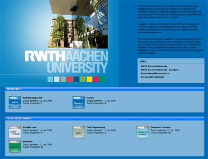 Screenshot of RWTH Aachen iTunesU