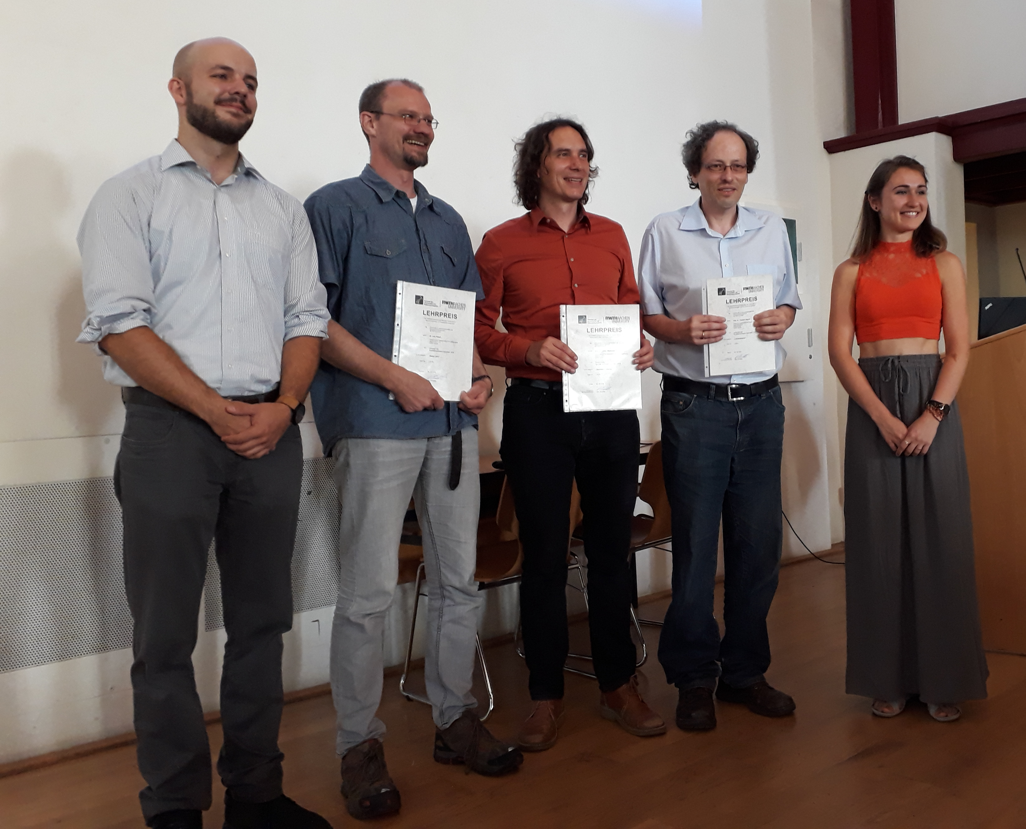 Teaching award winners 2018