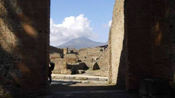 Pompej and Vesuvio