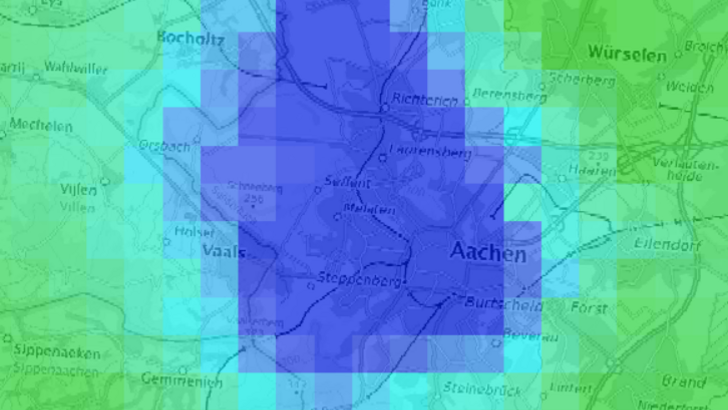 Rainwater Map of Aachen
